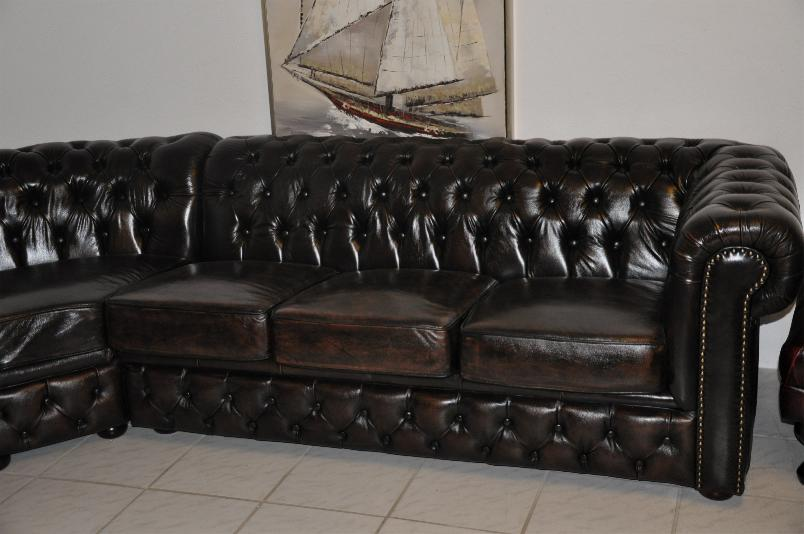 ecksofa chesterfield original roschester cccc ebay. Black Bedroom Furniture Sets. Home Design Ideas